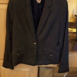 ANNE KLEIN VINTAGE BLACK GREY BLAZER JACKET 10